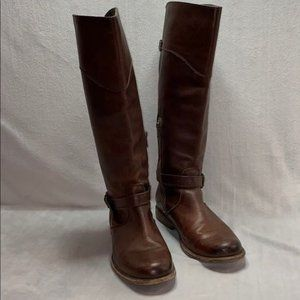FRYE 76844 Phillip Harness Tall Brown Leather Boot